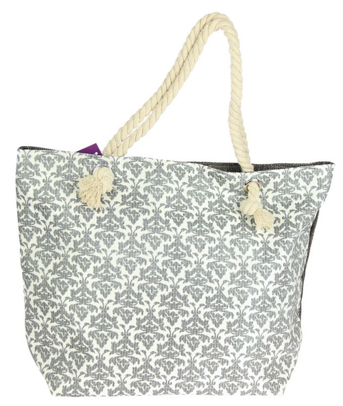 Rope handle beach tote bag - (2 colours available)