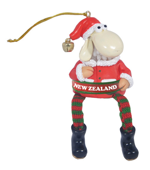 nz sheep hanging with dangling legs christmas