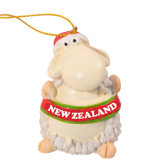 nz sheep hanging christmas with nz sign