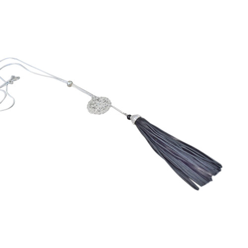 Long pendant with tassel and charm (comes in 3 colours)