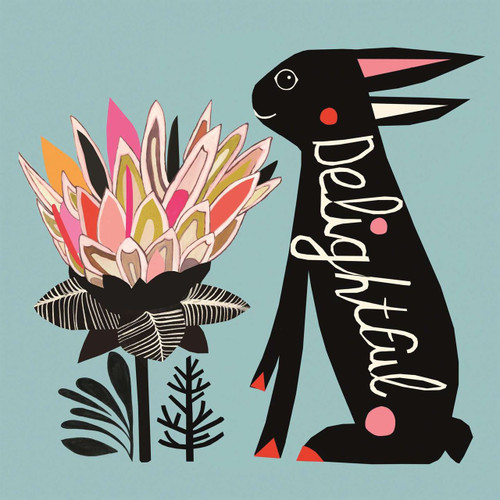 Greeting Cards - Delightful Bunny