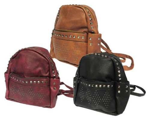 Fashion Back Pack with studs - choose from several colours