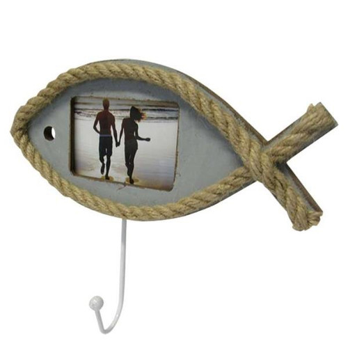 fish shaped photo frame with hook