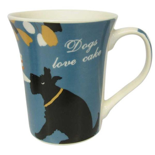 Dogs Love Cake Mug - Blue