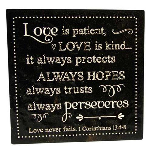 Message Tile - Love is patient ...