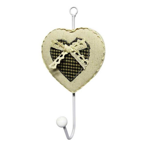 Country Chic Tartan heart shaped hooks (comes in 2 colours)