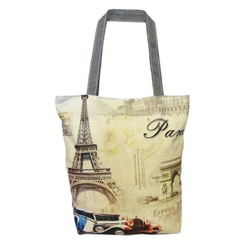 Tote Bag - Paris Blue Car