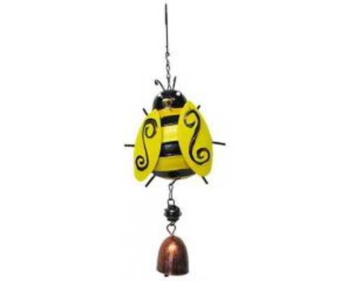 Hanging Yellow Bee with bell