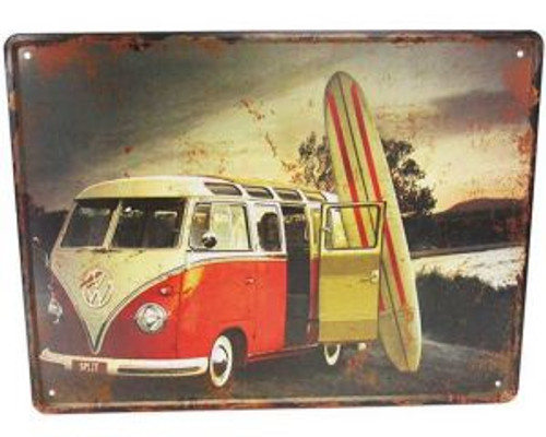 Large retro style tin signs - Combi retro