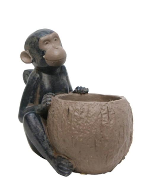 Monkey with Plant Pot holder version 2 - 21cm high
