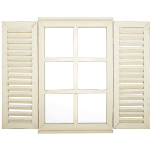 Window mirror with doors