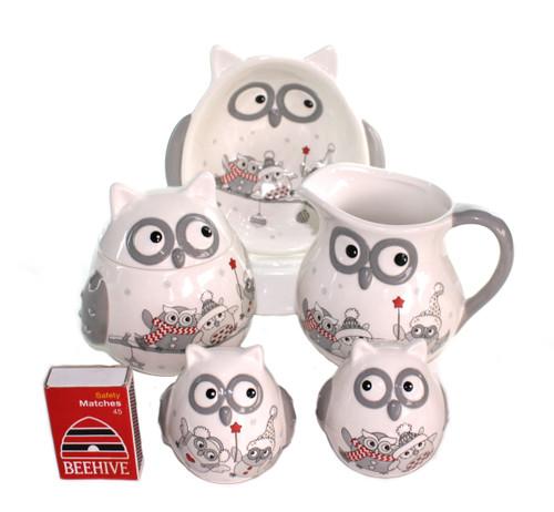 Christmas Owl Sugar pots