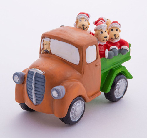 NZ Christmas - Sheep in old truck