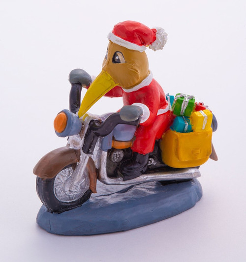 NZ Christmas - Kiwi on a motorbike doing deliveries