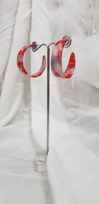 Resin earrings 13435