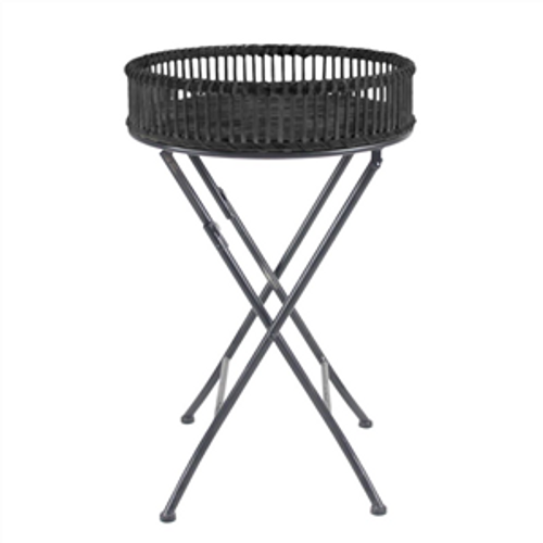 round bamboo table with fold up legs