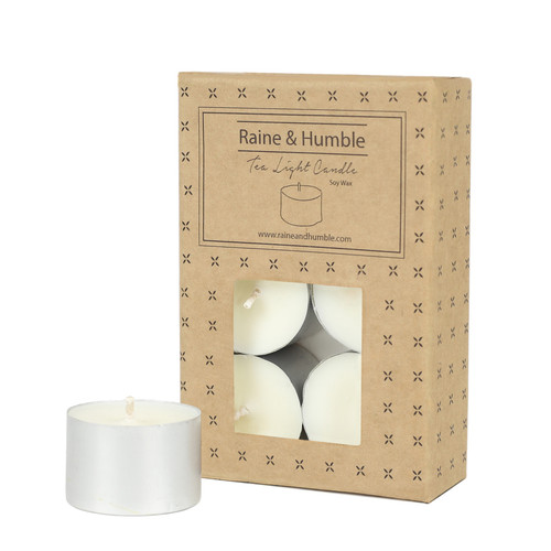 9hr Soy Wax Tea Light Candles - unscented