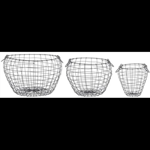 Wire Baskets - pear oval shape ( 3 sizes)