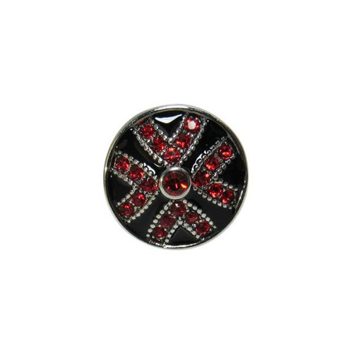 Snap - cross with red diamante