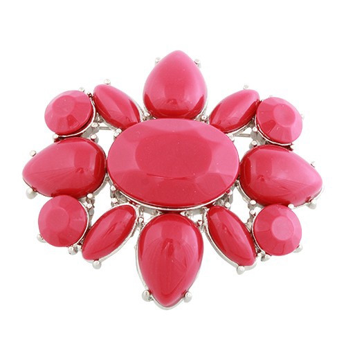 Oblong Flower Brooch (comes in 4 colours)