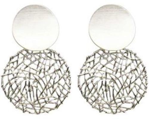 Sculptered lattice earrings
