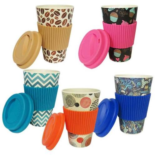 Eco Bamboo Travel Mug - 5 patterns to choose from