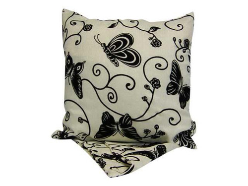 Cushion - Butterfly & Vine ( comes in White , Silver or Red))
