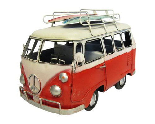Tin Combi van - red - large