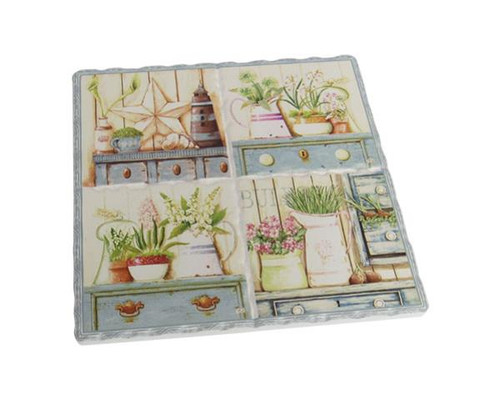 Decorative Trivet Tile - Garden