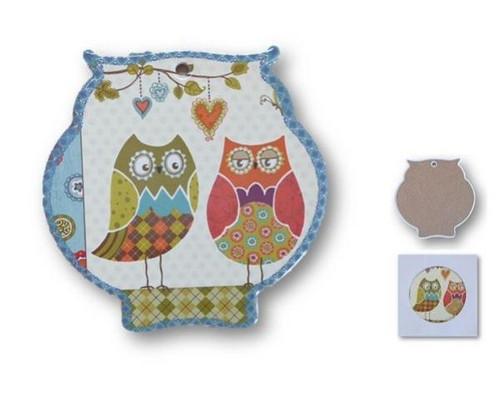 Owl trivet Ceramic Tiles - owl sweethearts