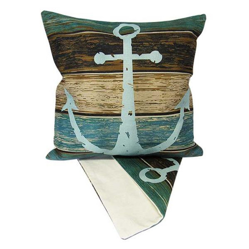 Cushion Cover - Anchor on Blue