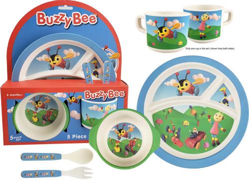 Buzzy Bee Bamboo Dinnerware set