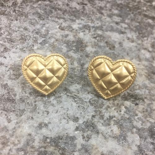 Clip on earrings - gold heart
