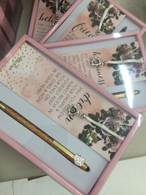 bookmark and pen set