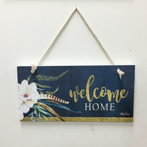 welcome home hanging sign