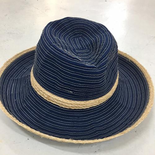 raffia trim sun hat