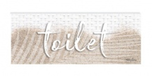 door plaque - toilet
