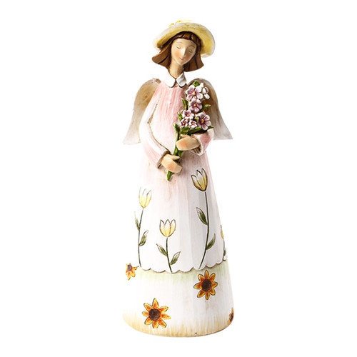 guradian angel with floral theme
