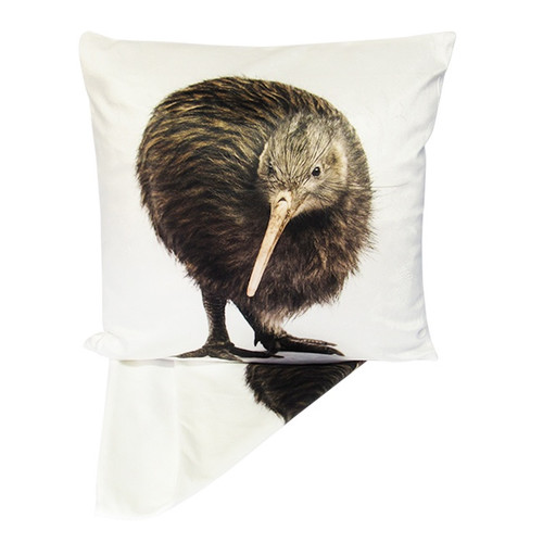 Kiwi on a plush finish cushion cover