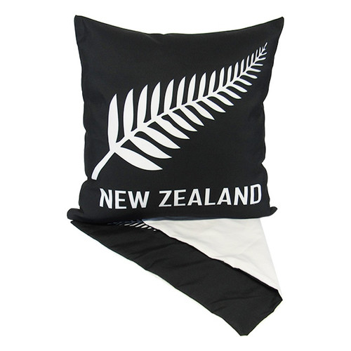 NZ fern on black cushion