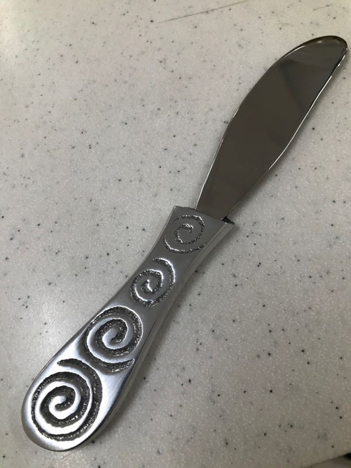Stainless Steel Pate Knife with koru design