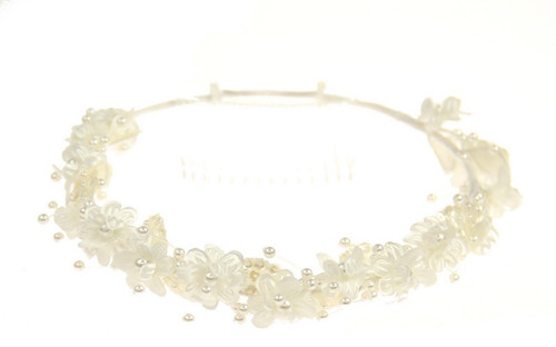 Ivory Circlet hair piece with comb