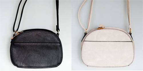 Cross body oval handy bag (comes in 2 colours)