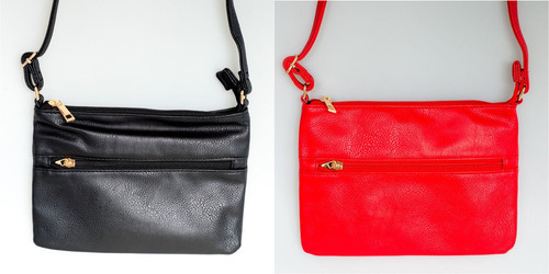 Zip pocket and top handy bag (comes in 2 colours)