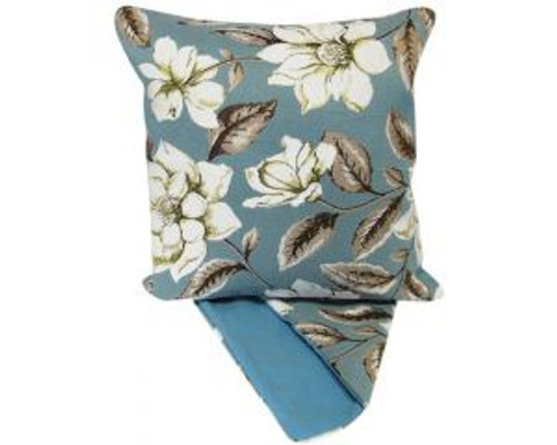 Cushion Cover - white roses on blue