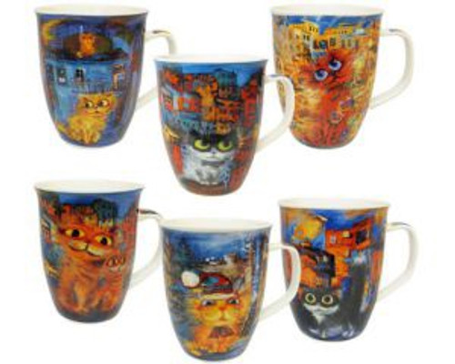 Cartoon Cat Coffee mugs - 6 patterns to collect