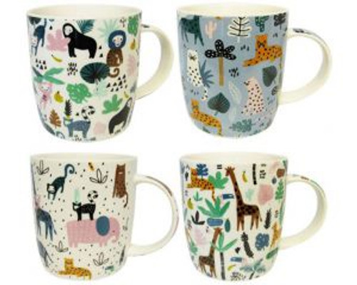 Jungle themed Coffee Mugs - 4 in the collection