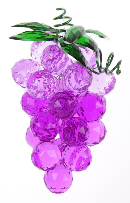 Crystal look grapes - come in clear, red, green or purple