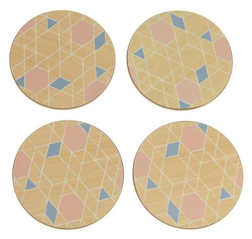 Nordic Round set of 4 x coaster
