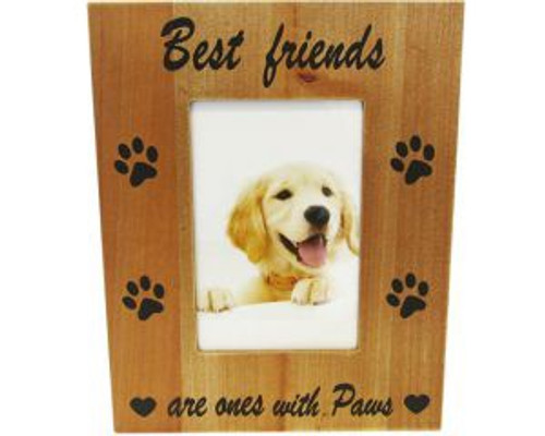 Dog Photo frame - Best friends  are ones with Paws